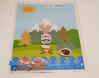 Camping Busy Bag, Animal Busy Bag, Camping, Animals, Busy Bag, Boats, Toddlers, Preschoolers, Boys, girls,