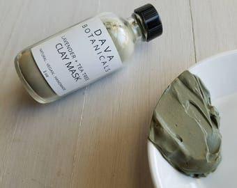 Clarifying Clay Mask ~ vegan green clay skin care, dry mask, face mask, mud mask organic