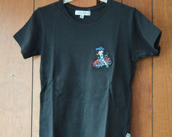 t shirt embroidered machine with betty bop 12 or 16