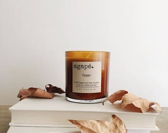 HYGGE • fall candle, soy candle, amber candle, patchouli candle, autumn candle