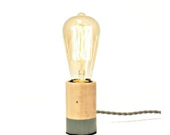 Minimalist Bare Light Bulb Desk Light - 7 Color Options - Minimalist Light - Edison Bulb