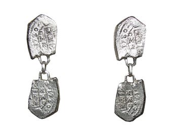 Hattie Carnegie Spanish Armada Dangle Coin Earrings