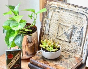Antique ceiling tin// Vintage Ceiling tile// Vintage Decor// Antique Decor/ Shabby Chic// Shabby Chic Decor// Farmhouse Decor