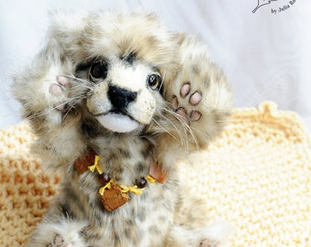 SOLD realistic Cheetah cub Teddy Bear friend wild cat OOAK Cheetah cub Thaonga