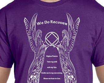 NA - ANGEL 3rd STEP Prayer  - T-shirt - Color Options - S-5X - 100% cotton - Free Shipping - Narcotics Anonymous