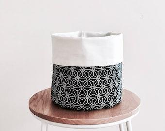 NEW - geometric storage basket, fabric basket, plant pouch, storage, fabric bin, round fabric basket, bathroom storage, nursery.