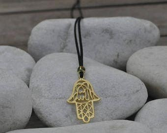 Hand of Fatima necklace gold