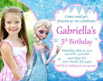 Frozen Invitation, Frozen Birthday, Frozen Party
