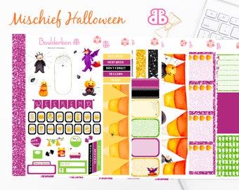 Mischief Halloween | Planner Stickers | Weekly Planner Sticker Set, Halloween Sticker Set