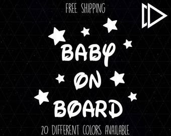 Baby On Board Disney Font Decal