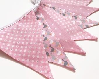 Pink baby banner, Pink nursery banner, pink baby shower, pink baby decor, pink baby girl, pink nursery decor, Nessa Foye
