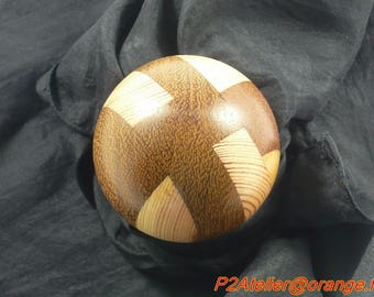 Collage of various wood speed shift knob