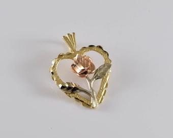 Black Hills Gold 14K Gold Heart Pendant