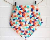 Bib/ Bandana / Bibdana / Baby Scarf Baby Girl Boy Unisex Multicolor Triangle Blue Mint Orange Red White Teether