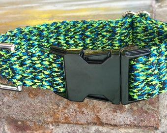 Blue Green Dog Collar