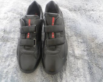 Prada Men Shoes/Black/upper leather /rubber sole/ Monk strap/made in Italy/UK 10/EU44