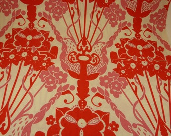 Anna Maria Horner - FQ or more - Nouveau Bouquet Hand Drawn Garden in pink & red - HTF OOP
