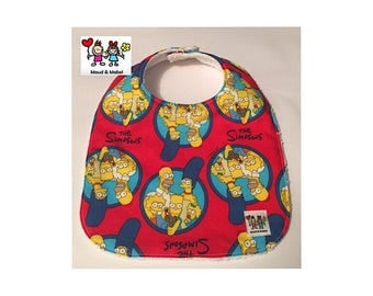 MAUD & MABEL - Handmade Baby Bib - The Simpsons