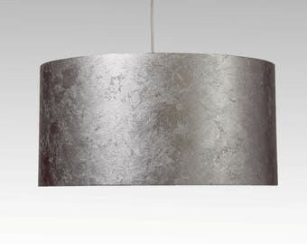 Lampshade, D.40 cm, silver-leaf-character