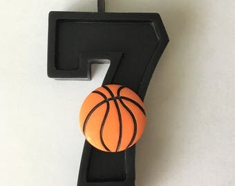 Basketball  Birthday Number Candle