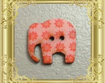 Elephant Cross Stitch Needle Minder - Pink