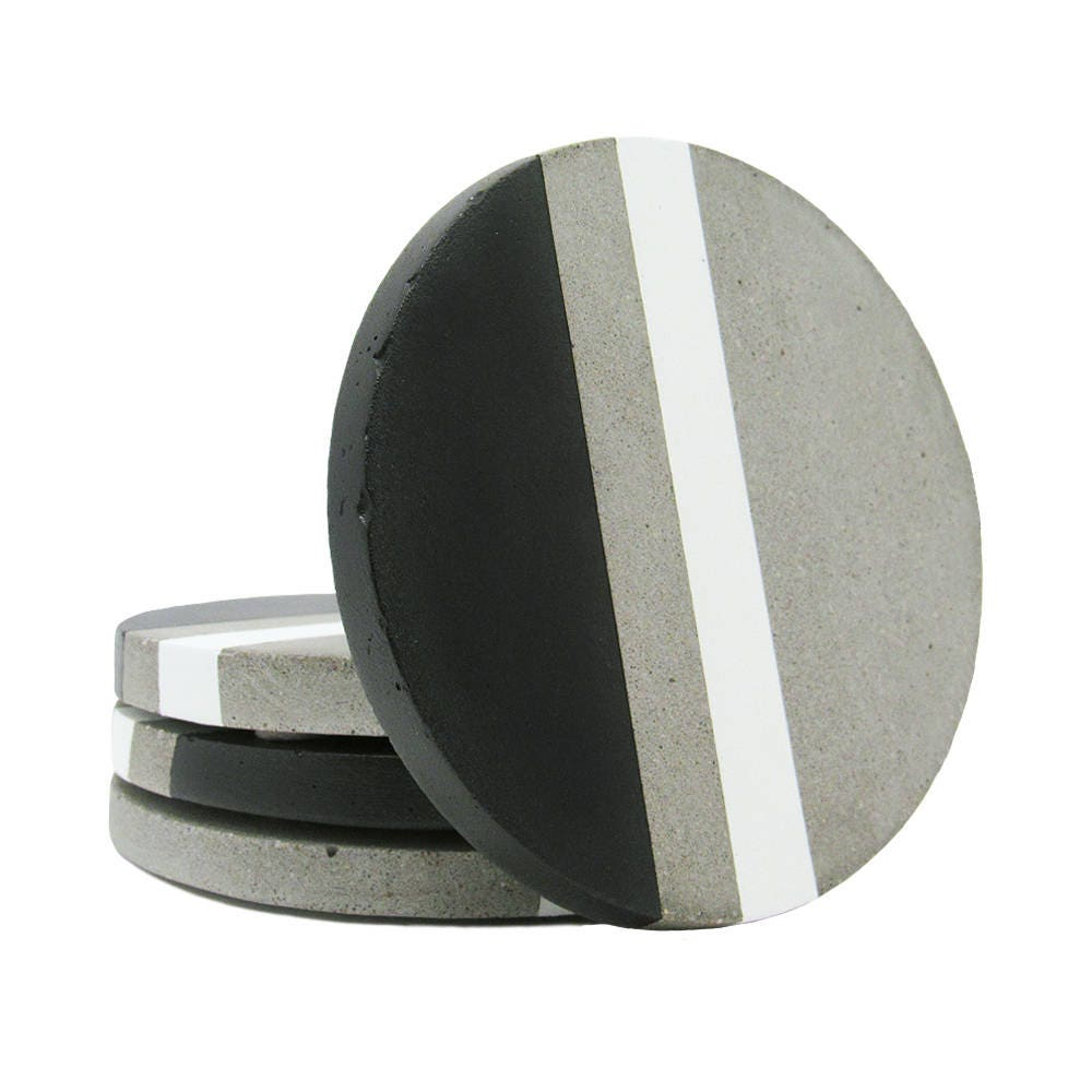 Concrete Coasters Modern Coasters Stone Coasters Gift For