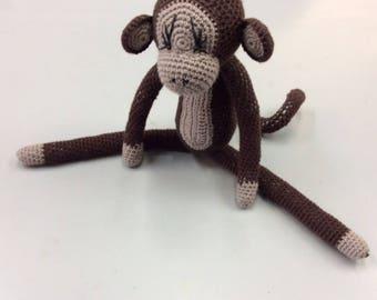 Cute Crocheted Brown Monkey
