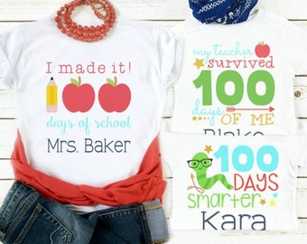 100th Day of School Custom Tees | Youth & Adult