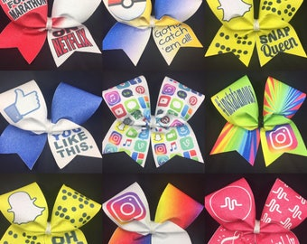3 for 30 Glitter Sublimated Cheer Bows - BbA/CBG designs