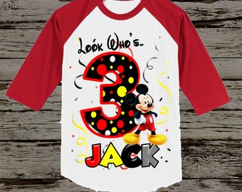 Mickey Mouse Birthday Shirt - Mickey Birthday Shirt - Tank Top Available