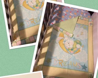 Sweet dreams baby blanket cot panel