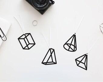 4 Pcs of Geometric Bookmark Set Book Line Marker Planner Decoration Gift For Book Lover