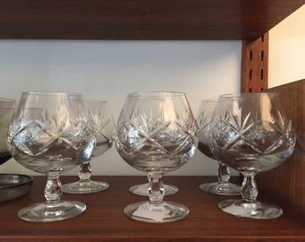 Cut Glass Cognac Glass