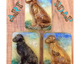 DOG SOAP dog lover dog gifts,i love dogs,my dog,unique dog gift,dog present,dog art,dog decor,big dog, Labrador,retriever,lab,hunting dog,