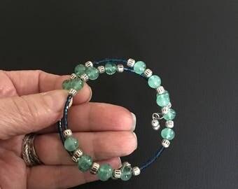 Jade and Blue Bracelet