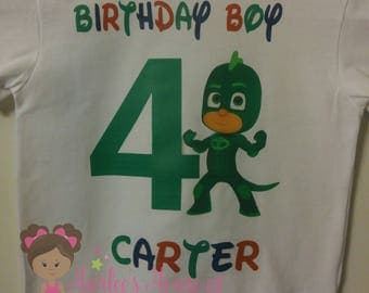 PJ Mask inspired Birthday shirt