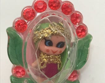 Liddle Kiddle Flower Ring Neon Pink and Green