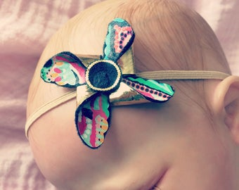 Lilly Pulitzer-inspired pinwheel baby/toddler/child headband or clip