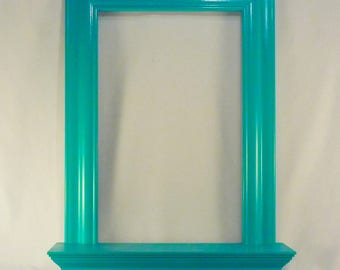 Teal/Turquoise Wall Mirror with Shelf