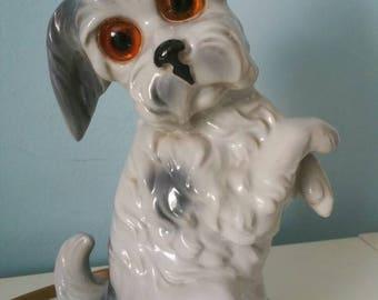 Vintage 1950s perfume light! Dog shaped perfume lamp ceramic night light rauchverzehrer