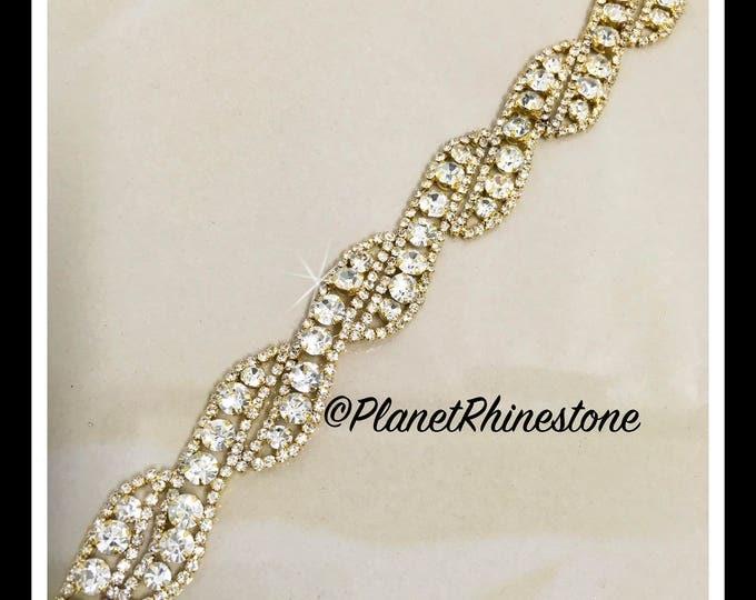 1 Yard Rhinestone Trim (Rose Gold, Silver, Gold, Black, AB) #0105