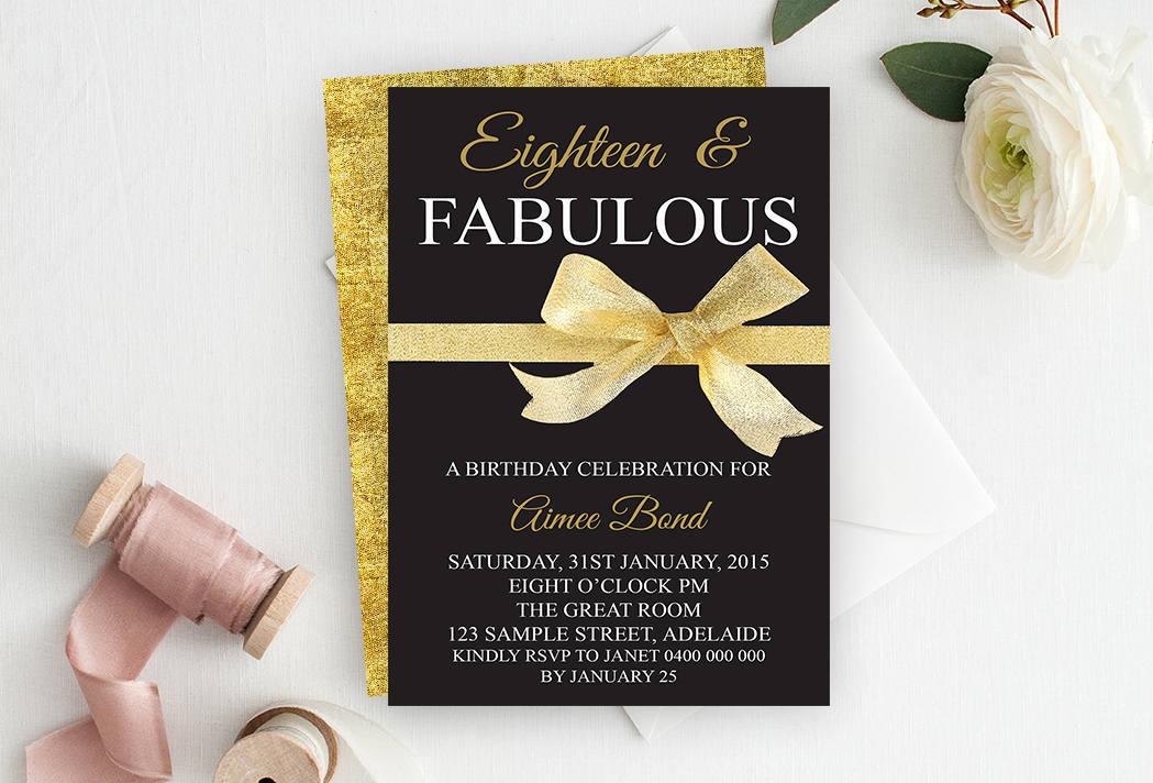 18th Birthday Invitation 18th Birthday Party Invitation – 18th Birthday Party Invites
