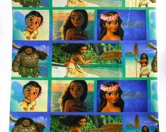 "Tissu imprimé thème "" Vaiana / Moana / contes de fées, princesse et reines """