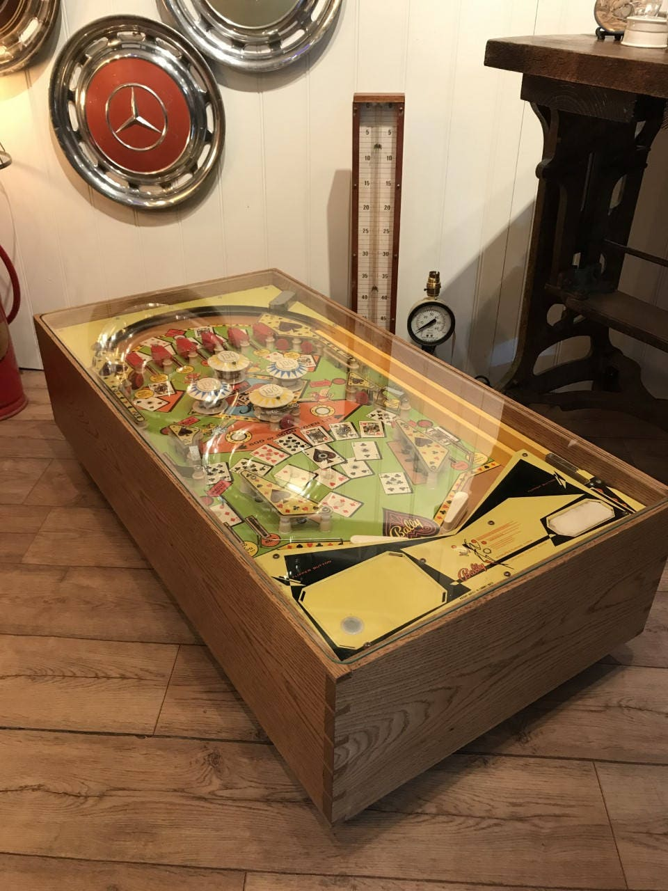 Vintage bally pinball machine coffee table conversion zoom geotapseo Image collections
