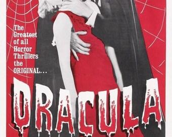 Summer Sale DRACULA Movie Poster 1931 Bela Lugosi Universal Monsters