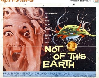 Summer Sale Not of This Earth (1988) Movie Poster Traci Lords