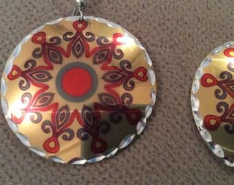 Copper earrings orient turkish ottoman design
