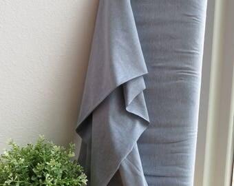 "AVALANA Jersey Melange Solid Knits by STOF fabrics 63"" Wide | ST20-151 | Dusty Blue"