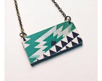* Collection Aztec * graphic Aztec geometric pendant necklace