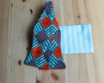 Blue Bow Tie For Men- Blue Bow Tie- Bow Tie- Mens Bow Tie- Blue Mens Tie- Mens Tie- Bowtie- Mens Bowtie- African Print Tie- Self tie bow tie